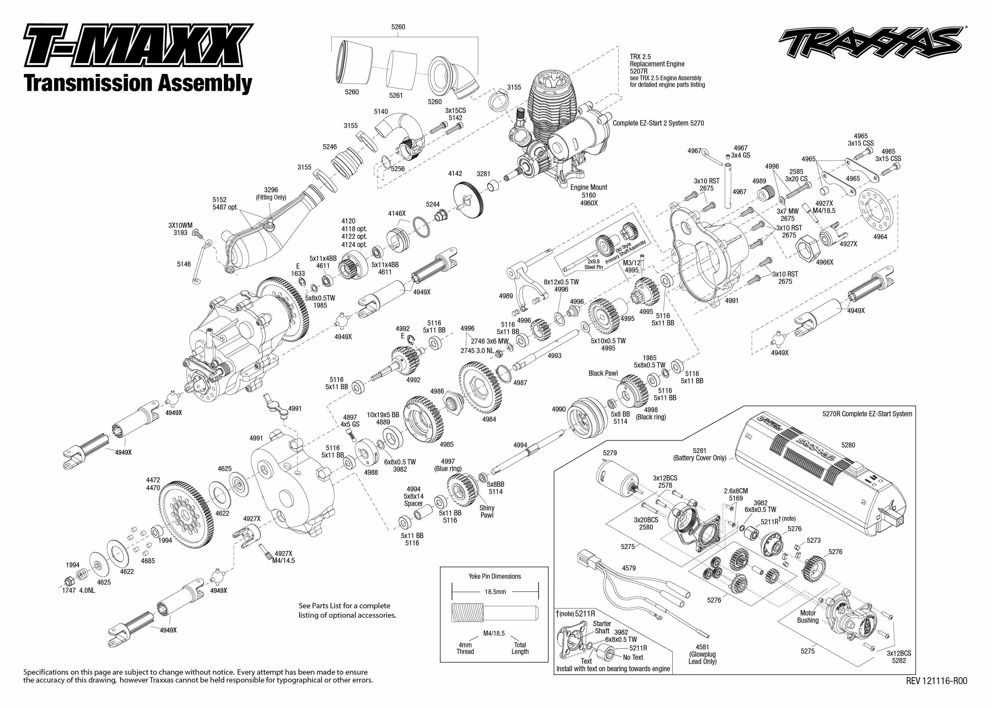 tranmission assembly traxxas